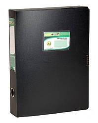 Папка регистратор A4 4OFFICE 4-242 PP 3,7 см на липучке цвета в ассортименте