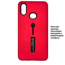 Накладка / Бампер KICKSTAND SOFT TOUCH Малиновый для телефона iPhone 11