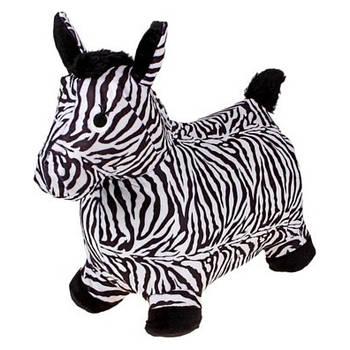 Прыгун-лошадка зебра BT-RJ-0040 в мягком чехле для малышей