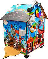 БизиБорд БизиДом «Мечта малыша» с подсветкой, мягкой игрушкой и каналом для полета шарика