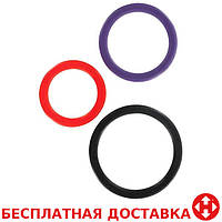 Toy Joy Triple Rings Multicolor 3Pcs эрекционные кольца