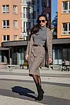 Женская теплая твидовая юбка-карандаш в клетку и отдельно удлиненный пиджак (в расцветках), фото 4