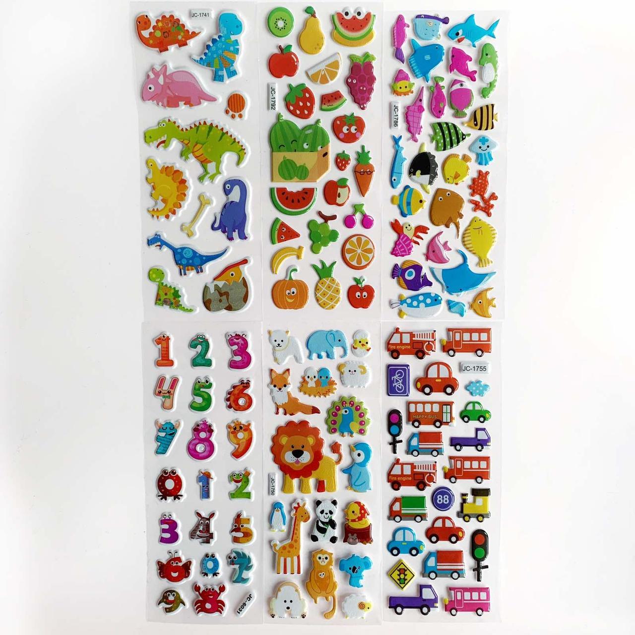 Набор многоразовых объёмных наклеек  для детей