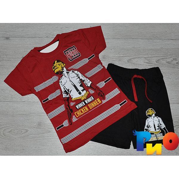 """Летний легкий костюм (футболка, шорты), """"PUBG"""", для мальчика (1-8 лет)(4 шт. в уп. )"""