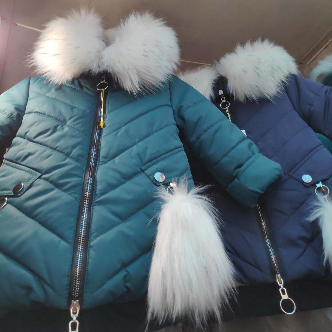 Зимняя детская куртка на холлофайбере