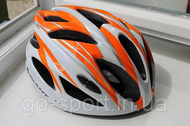 Шлем велосипедный Giant orange, фото 1