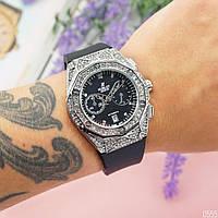 Женские наручные часы  Hublot Big Bang Small серебристый цвет