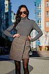 Женская теплая твидовая юбка в клетку и отдельно удлиненный пиджак (в расцветках), фото 2