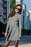 Женская теплая твидовая юбка в клетку и отдельно удлиненный пиджак (в расцветках), фото 3