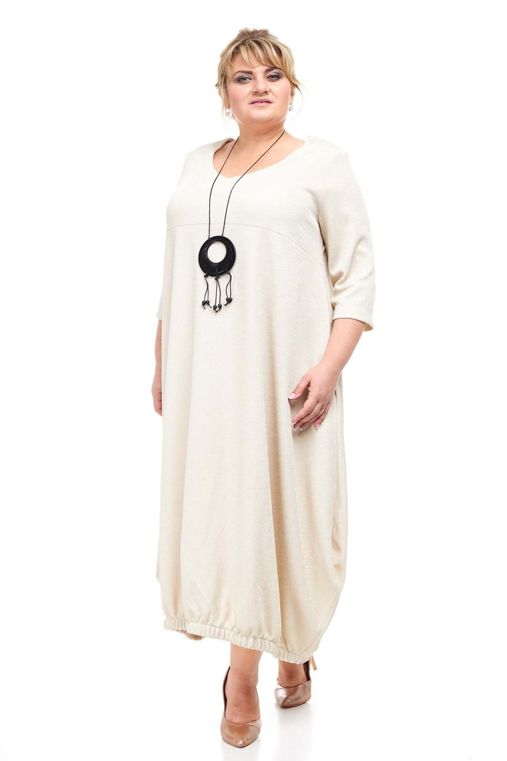 Нарядное платье размера плюс Франсуаза айвори (66-68)