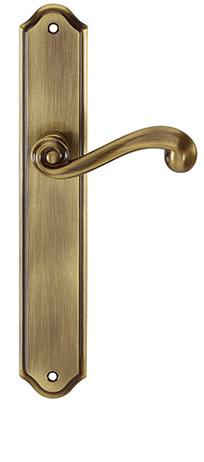 Ручка дверная на планке Tupai CARLA1 704 без отверстия бронза (Португалия)