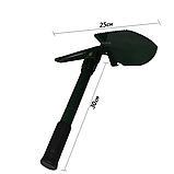 Лопатка туристическая складная 2Life 3 в 1 Black/Green (n-125), фото 2