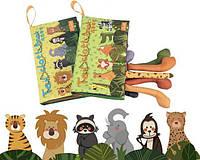 Развивающая мягкая книга с хвостами животных Tumama Зелёная, фото 1