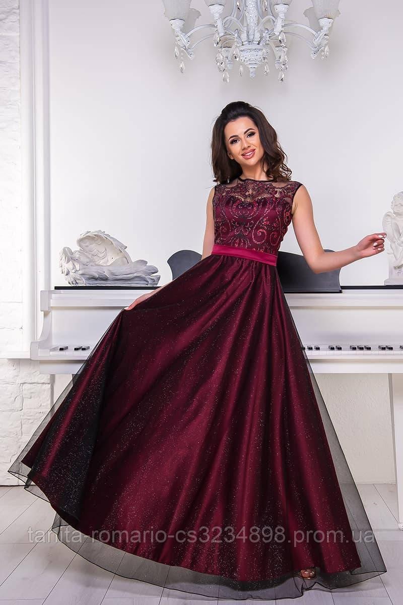Вечернее платье 9061e Бордо