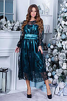 Платье нарядное миди коктейльное в расцветках 165088, фото 2