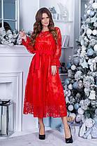 Платье нарядное миди коктейльное в расцветках 165088, фото 3