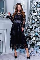 Плаття нарядне міді коктейльне в кольорах 165088, фото 3