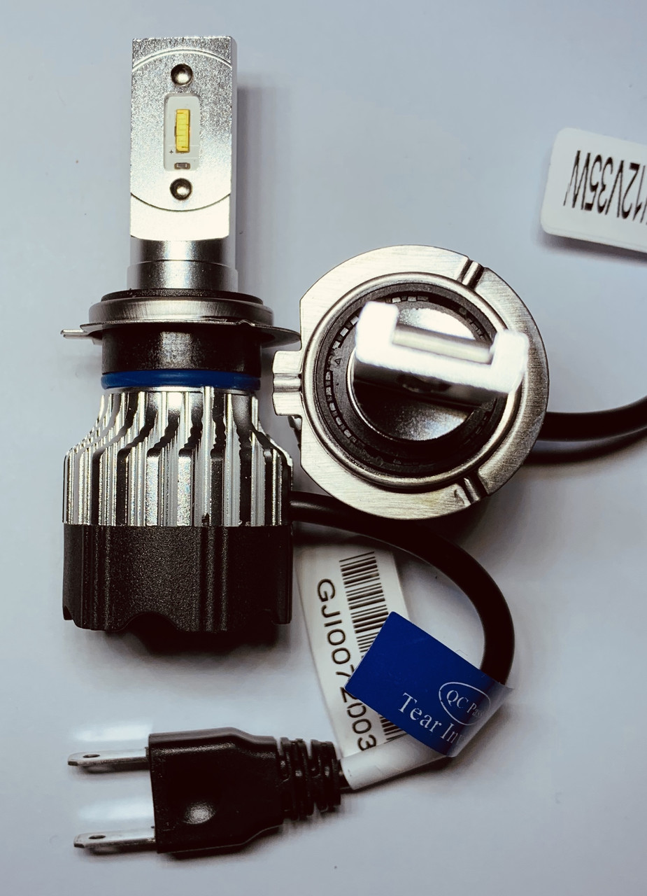 Светодиодная LED лампа головного света  KT CSP 8000Lm 70Watt (цоколь H7), фото 1