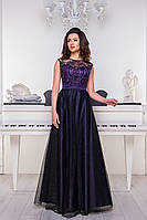 Вечернее платье 9061e Фиолетовый