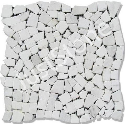 Мраморная Мозаика Стар.Валт. МКР-ХСВ (хаотичная) 6 мм White Mix