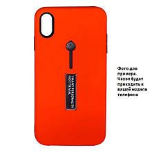 Накладка / Бампер KICKSTAND SOFT TOUCH Красный для телефона iPhone 11 pro