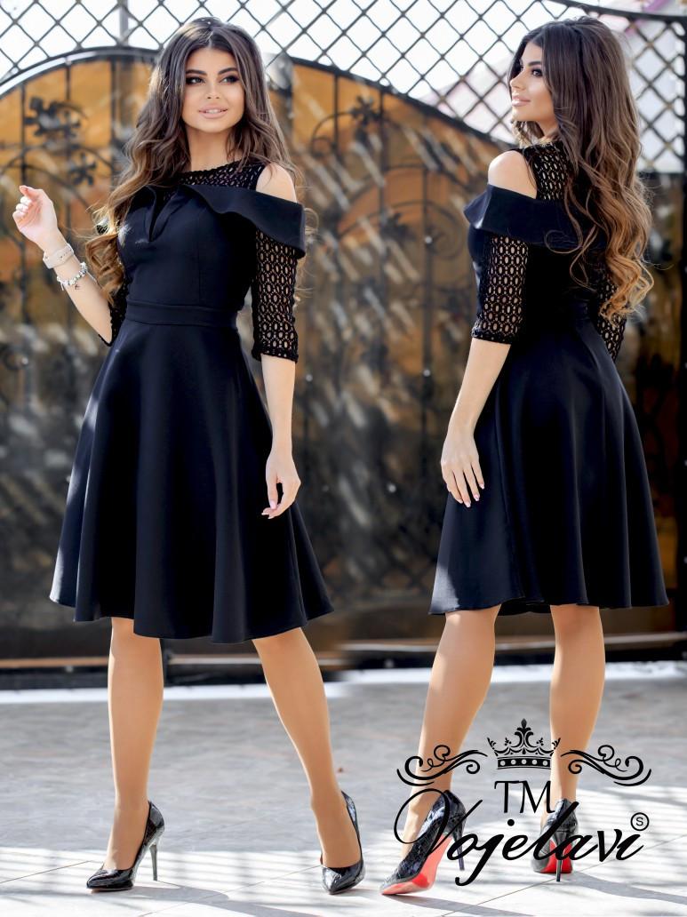 Приталенное женское платье с красивым декольте 42, 44, 46