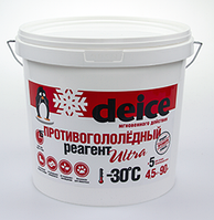 Антигололедные реагенты Deice Ultra кристал - 4,5 кг.