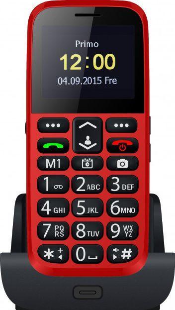 Кнопочный телефон бабушкофон на 2 сим карты с подставкой для зарядки Bravis C220 Adult красный