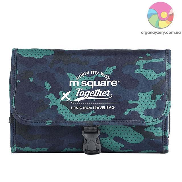Большая косметичка M Square (синий хаки)
