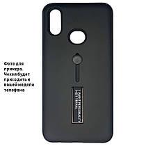 Накладка / Бампер KICKSTAND SOFT TOUCH Черный для телефона iPhone 11 pro MAX