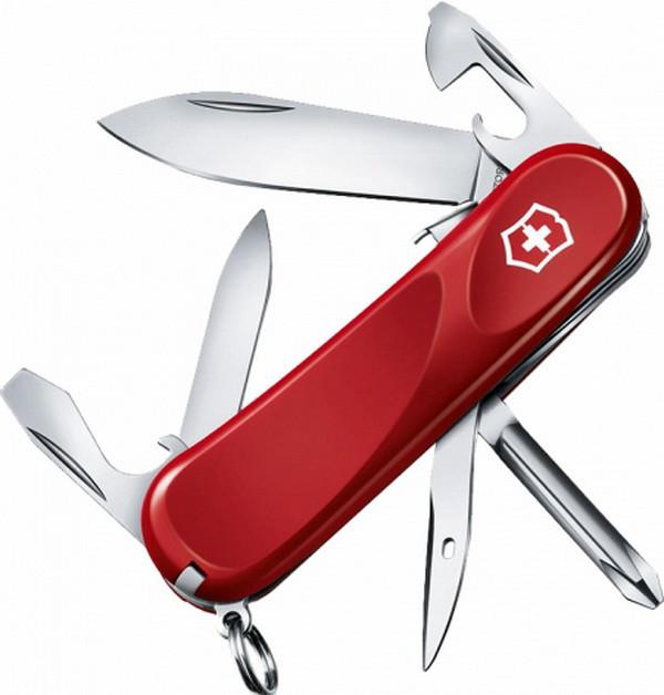 Нож складной, мультитул Victorinox Evolution S111 (85мм, 12 функций), красный 2.4603.SE