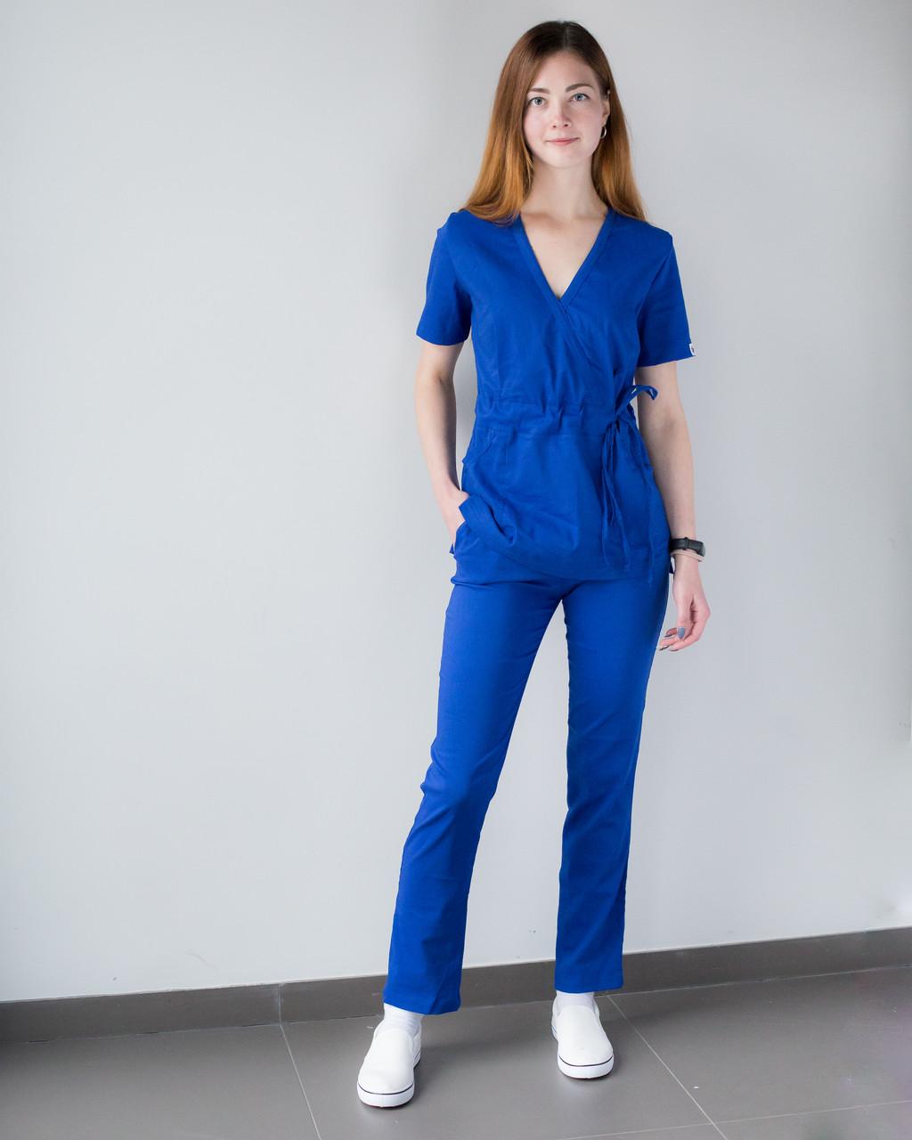 Медицинский костюм Рио электрик, из тонкой ткани