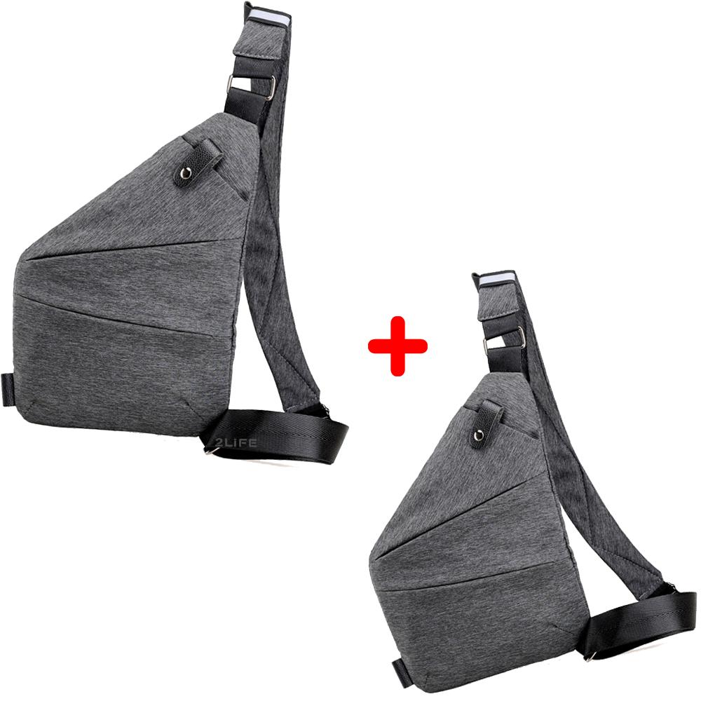 Набор сумок 2Life Cross Body Grey 1+1 (n-134)