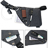 Набор сумок 2Life Cross Body Grey 1+1 (n-134), фото 3