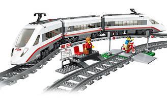 Конструктор Lele Сапсан Экспресс поезд на радиоуправлении аналог Lego City 60051, 628 деталей