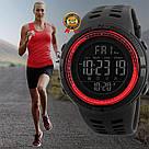 Оригинальные спортивные мужские часы Skmei (Скмей) Amigo 1251 Green / black / black red, фото 9