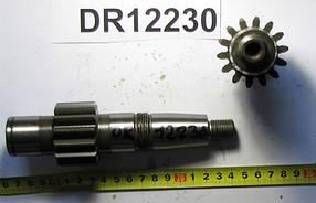 DR12230, Вал-шестерня Z=14 редуктора измельчителя