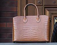 Итальянская кожаная женская сумка Laura Biaggi (374) коричневая