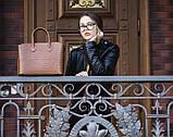 Итальянская кожаная женская сумка Laura Biaggi (374) коричневая, фото 2