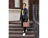 Итальянская кожаная женская сумка Laura Biaggi (374) коричневая, фото 3