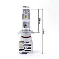 Светодиодные автолампы LED головного света H7 Philips-ZES 10000Lm 55Wat, фото 1