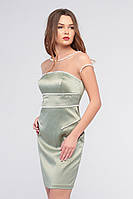 Коктейльное платье (Rica Mare) RM1512-16VV (цвет фисташка)