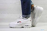 Женские зимние белые кроссовки Fila 6871