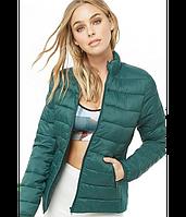 Куртка Forever 21 по бокам Вставки S Зеленый 96733769