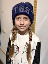 Детская шапка для девочки TRESTELLE Италия T19 515G Синий