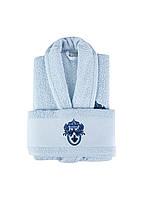 Набор халат с полотенцем Karaca Home - Brian Daily 2020-1 mavi (L/XL+50*90)