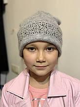 Детская шапка для девочки TRESTELLE Италия T19 513S Серый
