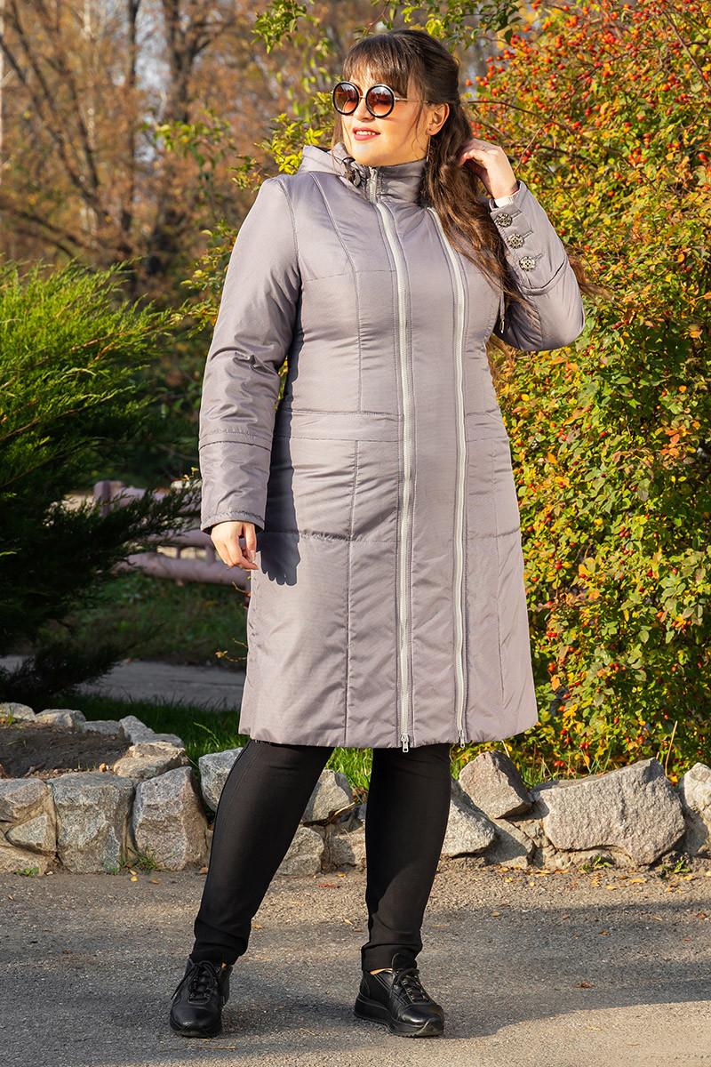 Пальто демисезонное Аврора светло серый