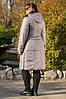 Пальто демисезонное Аврора светло серый, фото 2