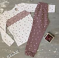"""Пижама хлопковая для девочки со штанами ТМ """"Ellen"""", фото 1"""
